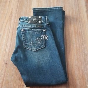Miss Me Size 25 Easy Bootcut Jeweled Jeans